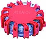 M&H-24 Warnblinkleuchte LED, Warnleuchte Auto ideal als Ergänzung zum Warndreieck mit Magnet und 16...
