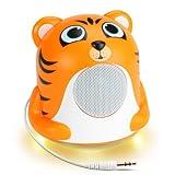 GOgroove Kinder Lautsprecher / Tier Speaker & Nachlicht Nachtlampe / Stimmungslicht & Mini...