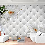 Fototapete Blumen 3D Lilien Weiß 396 x 280 cm Vlies Wand Tapete Wohnzimmer Schlafzimmer Büro Flur...