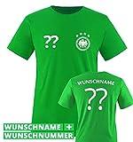 TRIKOT - DE - WUNSCHDRUCK - Kinder T-Shirt - Grün / Weiss Gr. 134-146