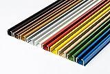 glänzend einläufig Gardinenschiene aus Aluminium (Weiß Gardinenschiene mit Faltenlegehaken,...