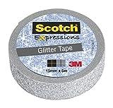 Scotch KK1505GS Kreativ-Klebeband (Glitzer, Dekoband, 15 mm x 5 m) silber