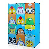 HOMFA Kinderzimmer Kleiderschrank multifunktionelle Spielzeugkiste stabiler Garderobenschrank...