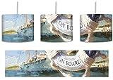 Rettungsring im Hafen inkl. Lampenfassung E27, Lampe mit Motivdruck, tolle Deckenlampe, Hängelampe,...