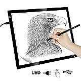 KYG LED Leuchttisch A3 Leuchttablett einstellbare Leuchtpult USB Leuchtplatte dimmbare Helligkeit...
