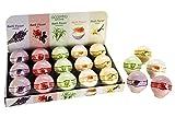 Eine Badekugel 180g, versch. Düfte/Farben : Lavendel/lila, Rose/rosa, Zitronengras/grün, Milch &...