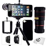 IPhone 5 / 5S Kamera-Objektiv-Set mit einem 8x Teleobjektiv / Fisheye Objektiv / 2 in 1...