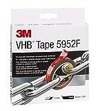 3M VHB 5952 Hochleistungs-Klebeband, 19 mm x 3 m, Schwarz, Schutzabdeckung: Folie (1-er Pack)