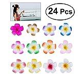 Frcolor 24pc Set 2,4 'Hawaii Hawaiian Plumeria Blume Schaum Haar Clip Zubehör für Mädchen Teens...