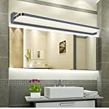 ELINKUME 1X 7W 770 lumen 35 LED SMD 2835 Edelstahl Acrylglas LED Spiegelleuchte Badlampe Wandleuchte...