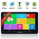 Jimwey GPS Navi Navigation für Auto LKW PKW KFZ 7 Zoll Android Navigationsgerät Bluetooth 16GB...
