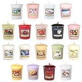 Kostengünstiges Yankee Candle Kerzenset mit 18 duftenden Votivkerzen, verschiedene Düfte