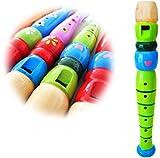 KEEPDRUM KFL1GR Flöte aus Holz für Kinder Grün Kinderflöte
