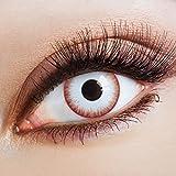 aricona Farblinsen – deckend weiß – farbige Kontaktlinsen ohne Stärke – Zombie Night...