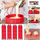 DIY Flexible Cake Mould Silicone Cake Mould Non-Stick Bake Snake For Baking Or Design Each Shape 4...
