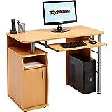 Kompakter Computer Schreibtisch Arbeitsplatz mit Schrank Regalfach Piranha PC 1b