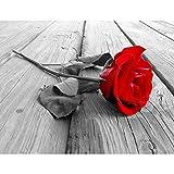 SENSATIONSPREIS Fototapeten Blumen Rose Holz 352 x 250 cm Vlies Wand Tapete Wohnzimmer Schlafzimmer...