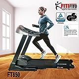Fitifito FT850 Profi Laufband 7PS 22km/h, Dämpfungssystem, 5 Trainingsmodulen inkl. HRC - Klappbar,...