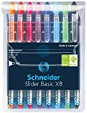 Schneider Slider Basic Kugelschreiber (Kappenmodell mit Soft-Grip-Zone und der Strichstärke...
