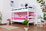 Etagenbett / Stockbett 'Easy Möbel' K3/n, Buche Vollholz massiv weiß lackiert - Maße: 90 x 190...