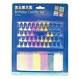 Invero® 152 Set Pack of Coloured Kuchen Kerzen mit Halter für Geburtstagsfeiern Hochzeit oder...