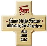 Kaltner Präsente Geschenkidee - Ahorn Holz Kreuz Kruzifix Wandkreuz mit Spruch HERR SEGNE DIESES...