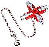 KNIPEX 00 11 06 Universal-Schlüssel für gängige Schränke und Absperrsysteme 90 mm
