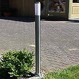 LHG Wegeleuchte in Edelstahl | Wegelampe für LED oder Energiesparlampen geeignet | Lampen-Höhe...