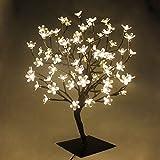 PMS 72er LED Baum 45cm Hoch Kirschbaum Lichterbaum Baum Lichterkette Weihnachten Innen (Warmweiß)