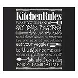 Zeller 26310 Herdblende-/Abdeckplatte Kitchen Rules, 56 x 50 x 2 cm, Glas