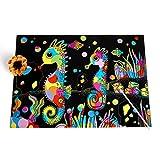 1 STÜCKE Farbe DIY Coil Scratcher - Kinder Scratch Regenbogen Scratch Kunstdruckpapier Magie...