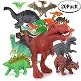 Sonnedorf Dinosaurier Spielzeug,20 Stück Dinosaurier Figuren Set, Mini Dinos Figuren Party für...