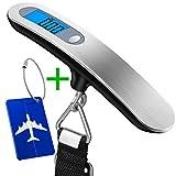 Digitale Kofferwaage,Wellead Gepäckwaage Tragbare Hängewaage LCD-Anzeige mit Kofferanhänger für...