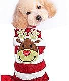 Menpet Hundepullover, mit Rentiermotiv im Cartoon-Stil, weihnachtliches Design