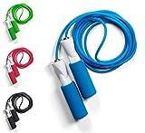 JUMP ROPE Fitness Springseil, 4 Farben mit Qualitäts Kugellagern, Profi Speed-Rope mit Tasche,...