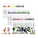 Hethrone 48pcs Bullet Journal Coloring Pens Set Fineliner Pens Fine Point Aquarell Marker Pens 0.4mm...