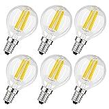 Albrillo 6er Pack Filament LED E14 G45 Fadenlampe , E14 Glühfaden Retrofit Classic , LED Birne als...