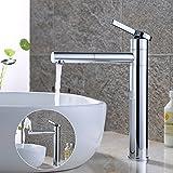 Homelody 360° verchromt Hohe Bad Armatur Waschbecken Wasserhahn Waschtisch Badarmatur...
