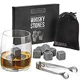 GOURMEO Whisky Steine (9 Stück) aus natürlichen Speckstein I 2 Jahren Zufriedenheitsgarantie I...