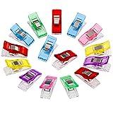 Anpro 60 Stück Klammer 27 x 10 mm Nähen Zubehöre Nähzubehör Stoffklammern 6 Farben für Nähen,...