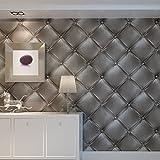 Europa Hanmero PVC Fernseher Hintergrund Leder Mustertapete Relief 3D-Wallpaper 0,53*10m 3 Farben...