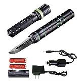 Futuresky 3-in-1 multi-funktionale taktische Taschenlampe Messer - Survival Ausrüstung Kit-Messer...