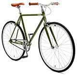 Critical Cycles Harper Fixed Gear Urban Commuter Single Speed Bike, Sage Green, 57cm