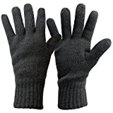 Alpidex Thermo Strickhandschuhe DARK SHEEP mit Thinsulate für Damen und Herren Unisex Thinsulate...