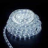 LED Lichterschlauch Lichtschlauch Lichterkette Licht Leiste 36LEDs/M Schlauch für Innen und Außen...