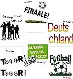 2 SET´s _ große _ Fensterbilder - ' Fußball ' - Sticker - verschiedene Fenstersticker Aufkleber -...