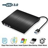 Umiten USB 3.0 Externer DVD-Laufwerk Brenner Ultra Slim Tragbare CD / DVD-RW Rewriter-Laufwerk für...