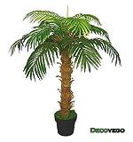 Decovego Palme Palmenbaum Königspalme Cocospalme Kunstpflanze Kunstbaum Künstliche Pflanze 140cm