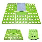 Faltbrett Zusammenklappbar - Grün ca. 29 x 23 x 1 cm - Wäschefalter als Falthilfe für Hemden...