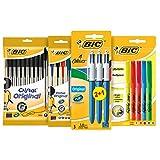 BIC Schreibwarenset für den Schulbedarf oder das Büro/Stifte Set mit 10x BIC Cristal...